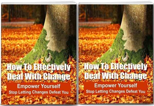 How To Effectively Deal With Change PLR
