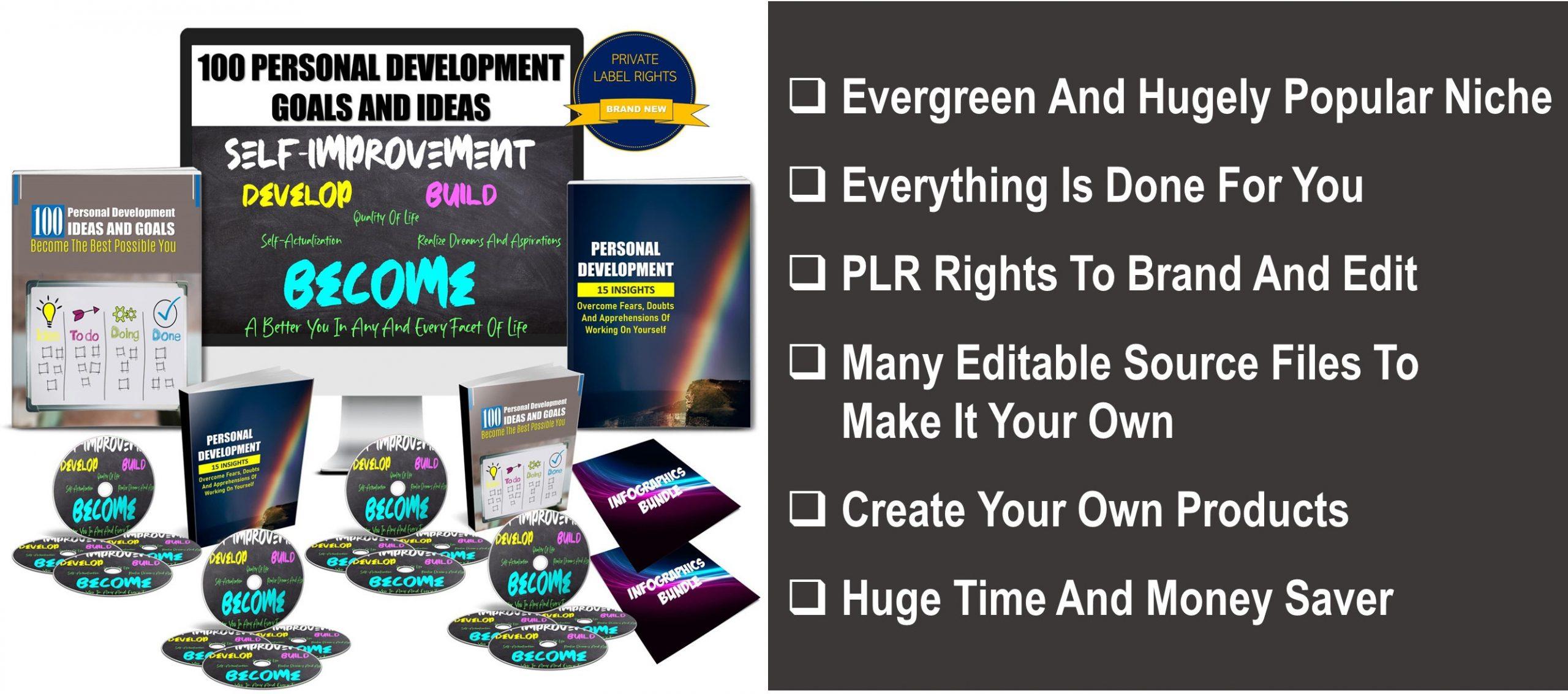 100 Personal Development Goals And Ideas PLR