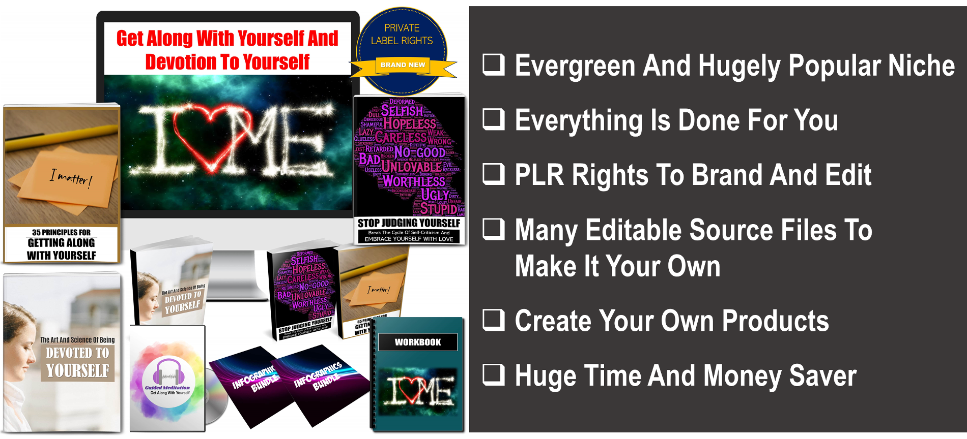 Get Along With Yourself And Devotion To Yourself Giant PLR
