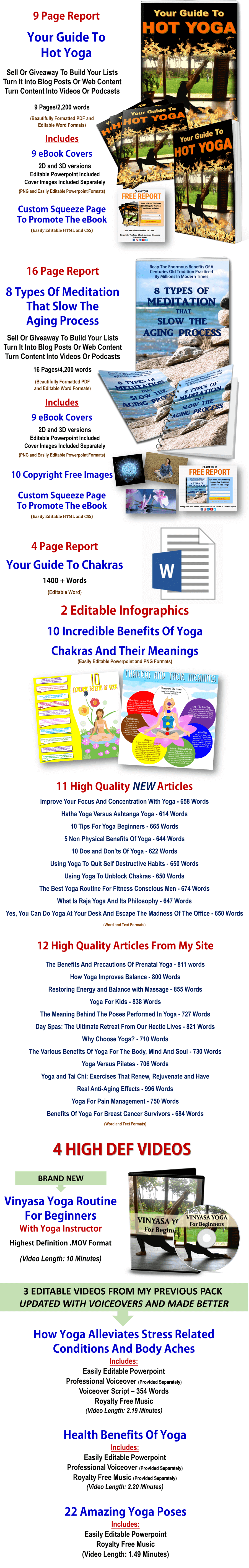 Yoga And Mediation PLR
